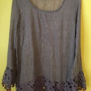 Retro Threads Lavender Lace Tunic Size Large